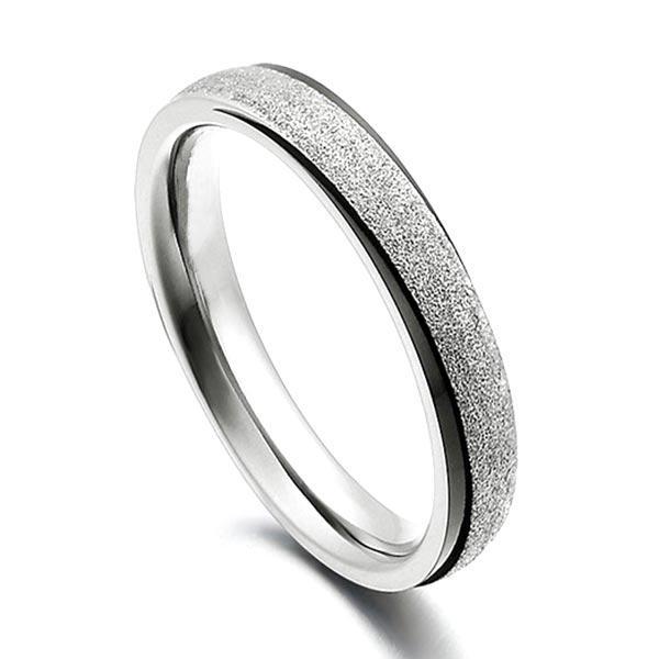 Sparkle Sandblasting Titanium Ring Blanks for women