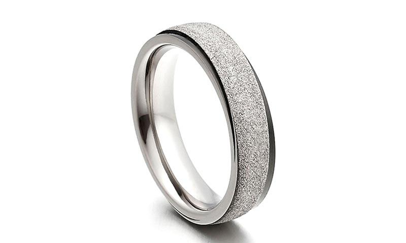 8mm threads black mens rings titanium simple for anniversary JaneE