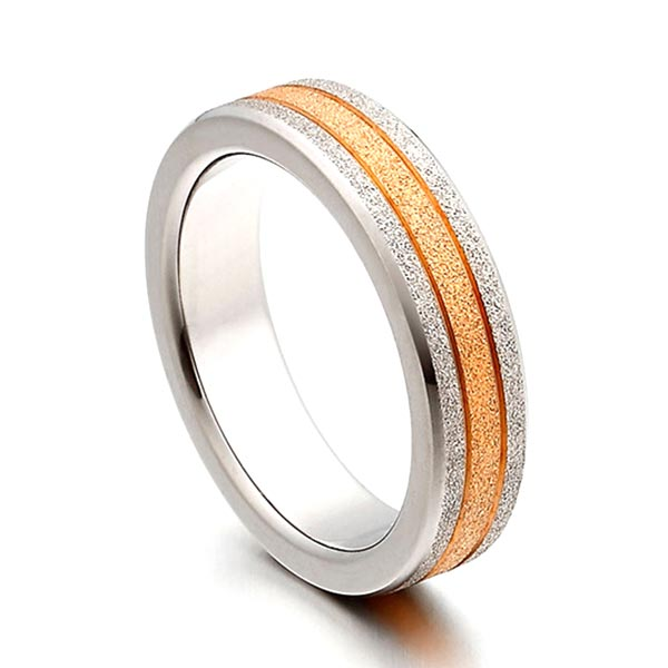 JaneE yellow gold men's titanium wedding band wholesale for wedding-3