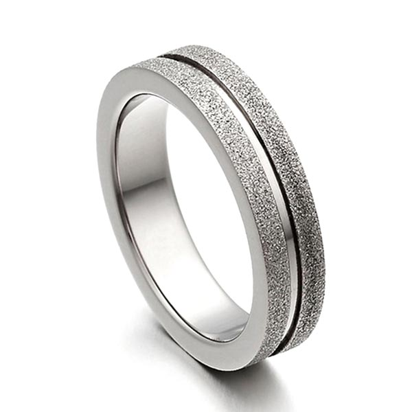 JaneE yellow gold titanium wedding rings factory direct for anniversary-4