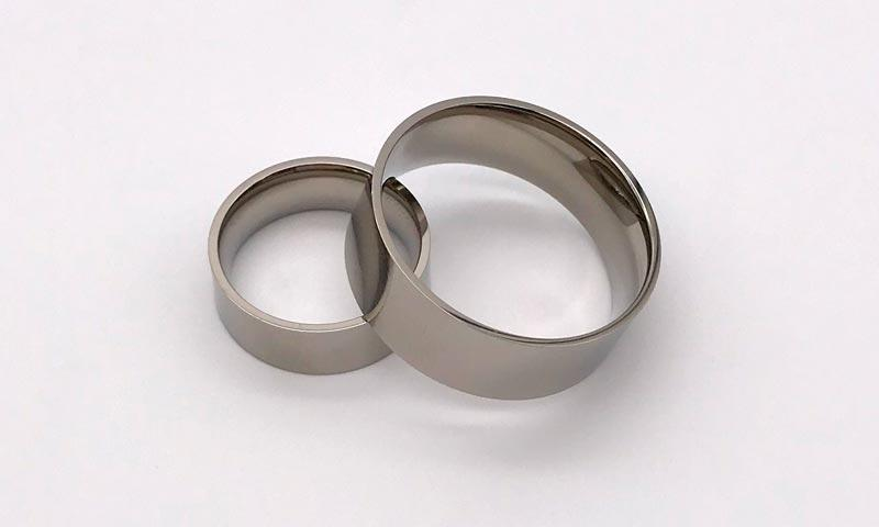 JaneE 8mm threads custom titanium wedding rings simple for anniversary