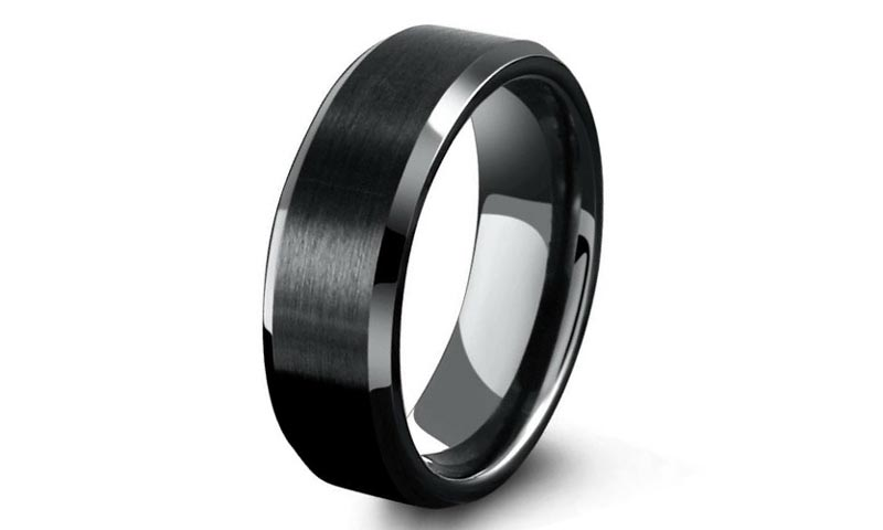 multi colors 6mm tungsten men's wedding band meteorite engraved for engagement-1