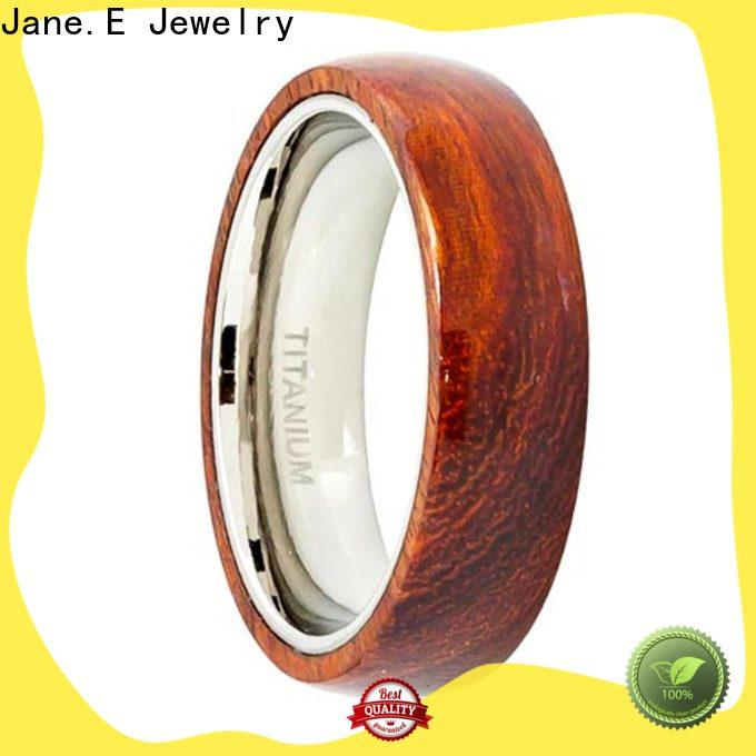 JaneE high quality stainless steel ring blank silver for engagement