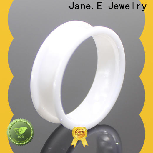 JaneE customized black ceramic ring all size for wedding