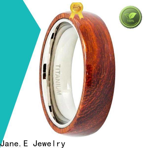 silver titanium engagement rings koa modern design for wedding