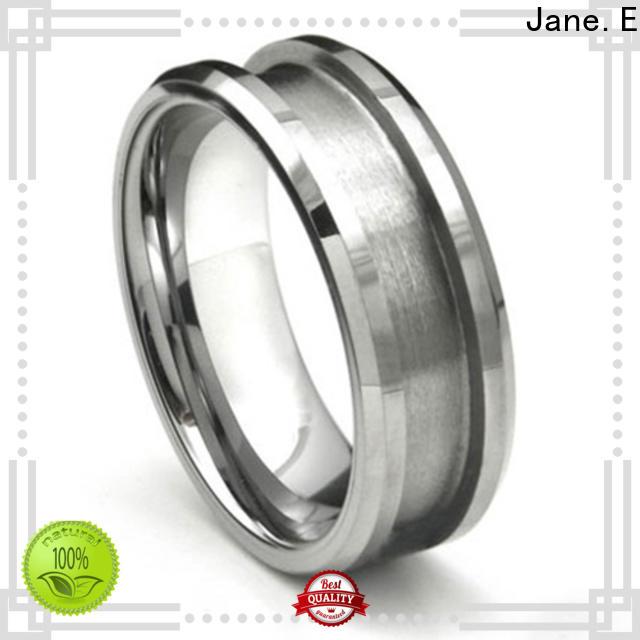 customized titanium ring core black silver for men