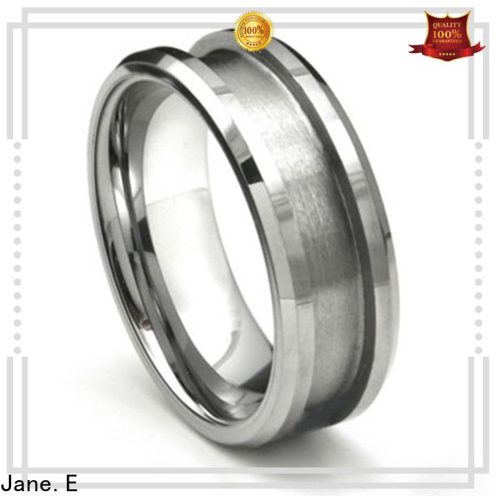 JaneE damascus texture mens tungsten wedding bands exquisite for wedding