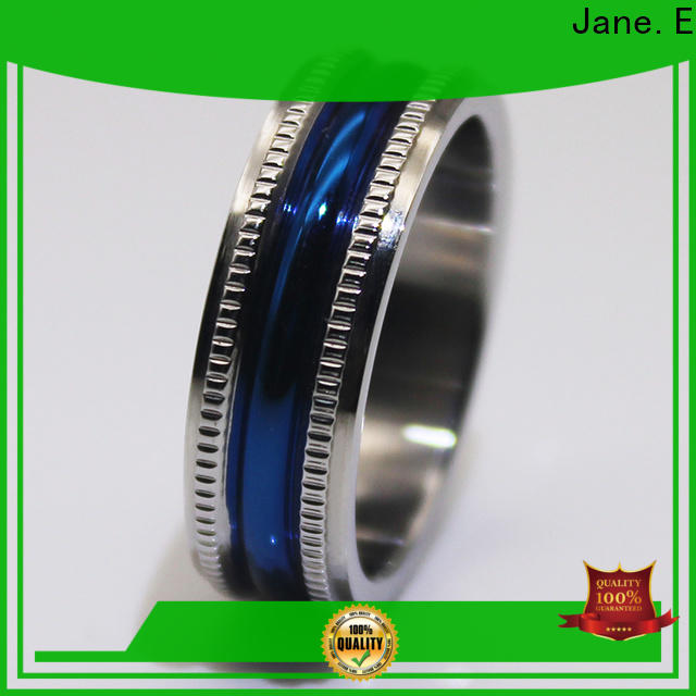 JaneE brown black steel ring multi colors for decoration