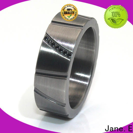 JaneE nylon titanium ring blanks matt for men
