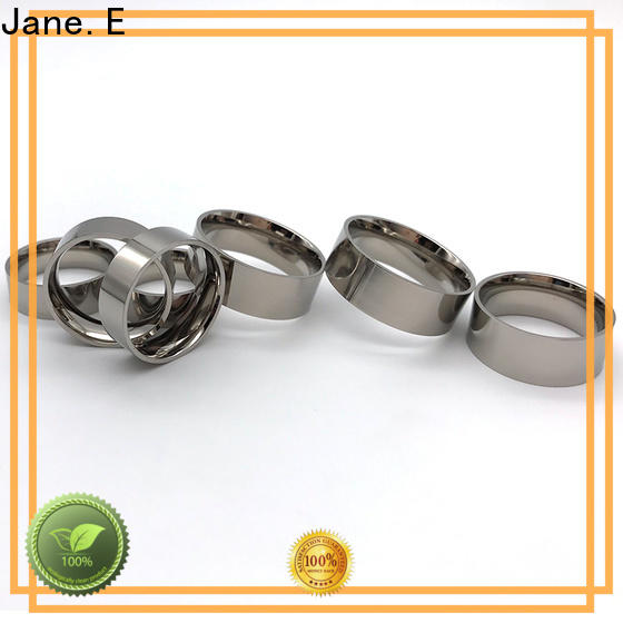 JaneE for wood crafts custom black titanium rings wholesale for wedding