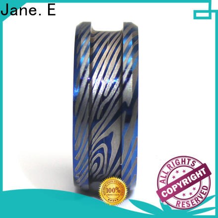 JaneE inlay brushed custom tungsten ring matt for engagement