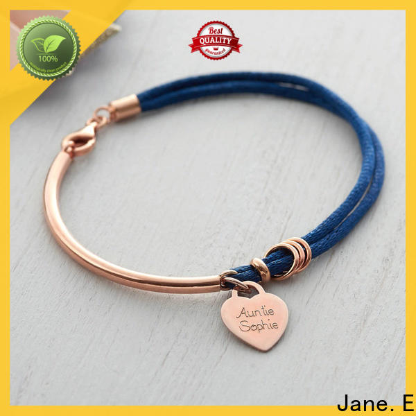 JaneE high quality satin rope bracelet for men exquisite for women
