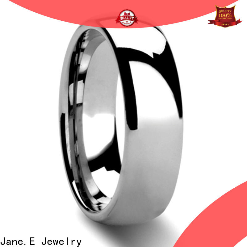 JaneE damascus texture mens tungsten wedding bands engraved for wedding