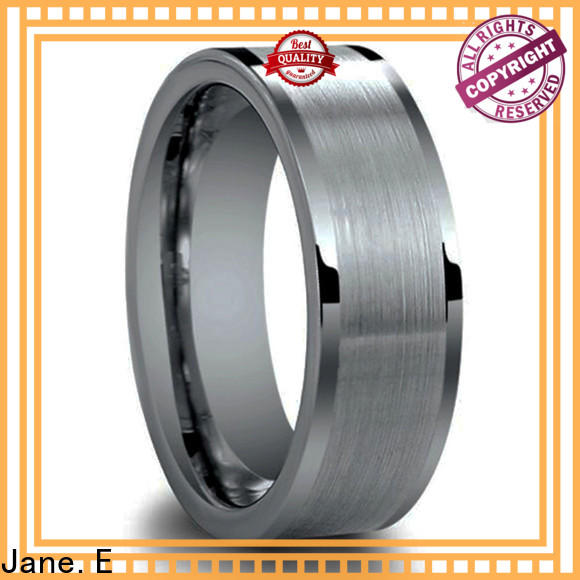 JaneE koa wood engraved tungsten rings engraved for wedding