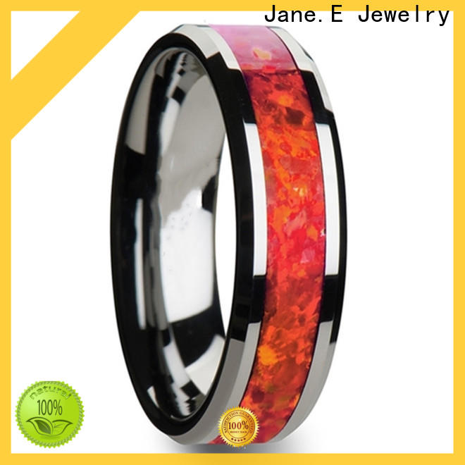 JaneE multi colors tungsten carbide gold ring exquisite for engagement