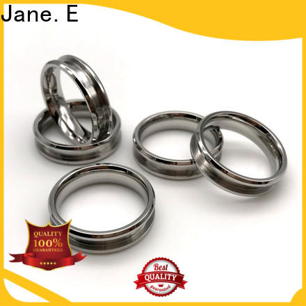 JaneE black steel band ring fashion design for weddings