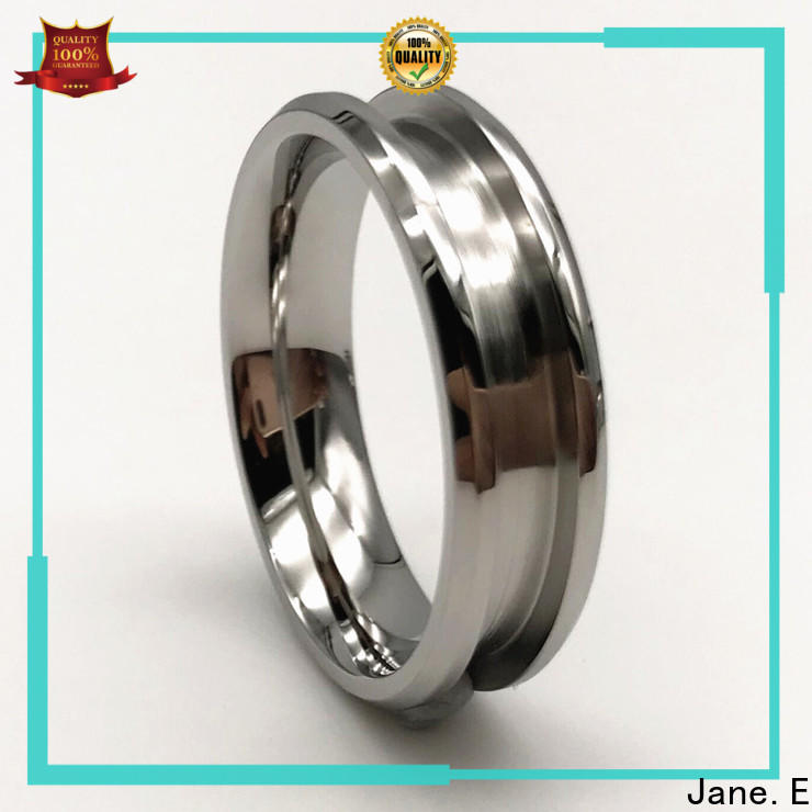 square edges surgical steel engagement rings plated comfortable for weddings