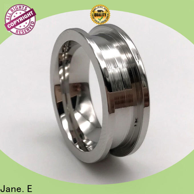 square edges women's stainless steel wedding rings inlay top quality for weddings