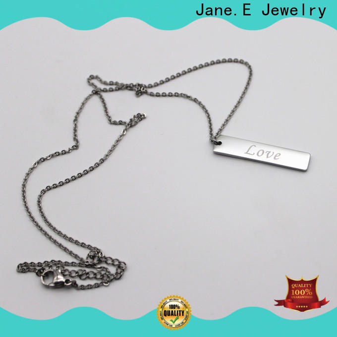 JaneE fragrant black stainless steel necklace different dimension for gift