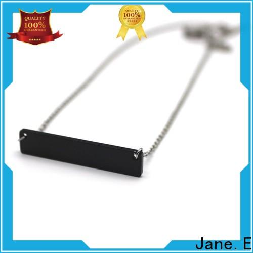 JaneE letter engraved stainless steel chain necklace manual polished for decoration