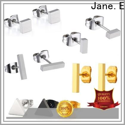 JaneE traditional titanium jewelry earrings classic style for girl
