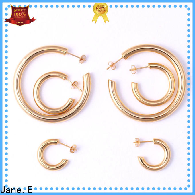 JaneE high polished pearl earrings for women OEM for decoration