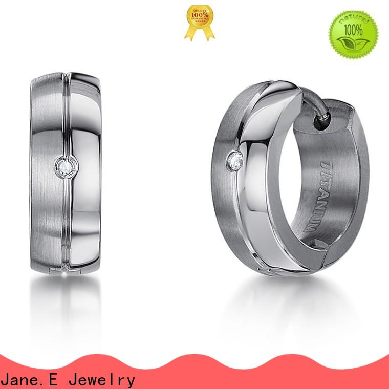 JaneE anodized pure grade titanium earrings hot selling for girl