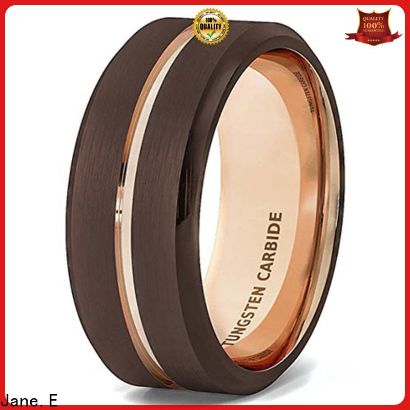 JaneE meteorite tungsten wedding band exquisite for gift