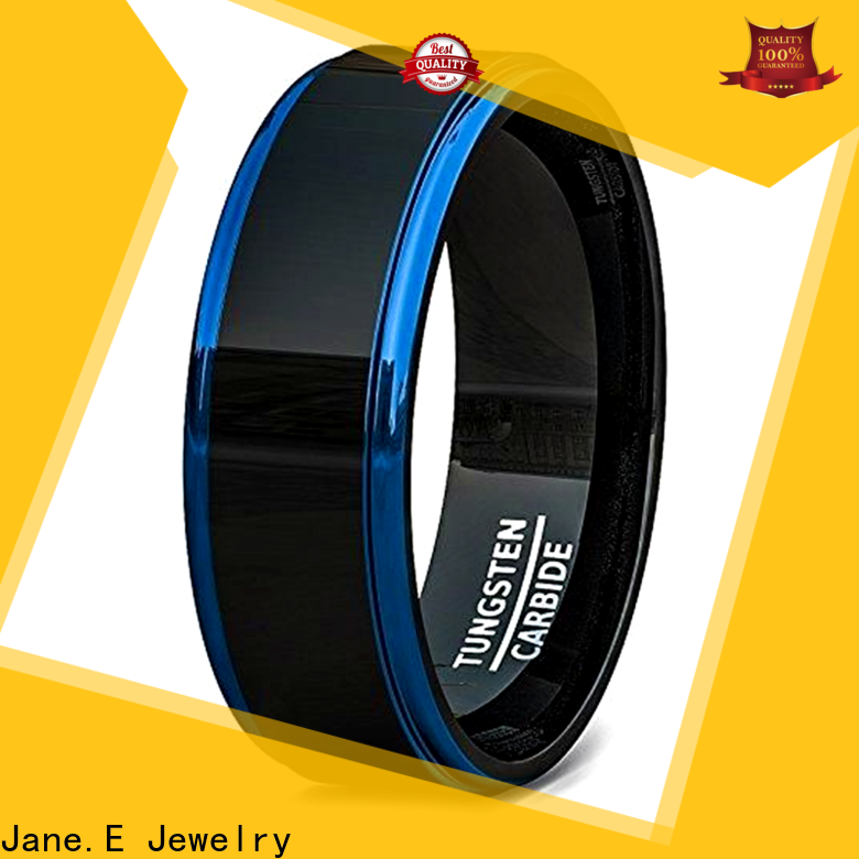JaneE traditional tungsten band rings exquisite for gift