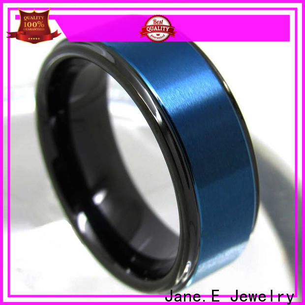 JaneE traditional rose gold tungsten ring matt for engagement