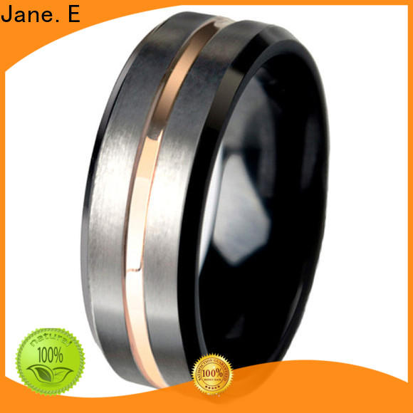 unique design tungsten ring red opal engraved for wedding