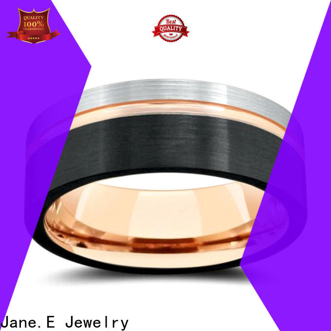JaneE traditional womens tungsten wedding rings engraved for gift