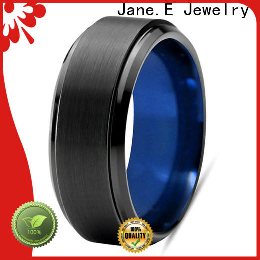 JaneE multi colors womens tungsten wedding bands matt for engagement
