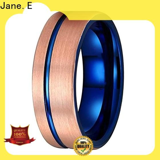 JaneE shiny polished tungsten band exquisite for wedding