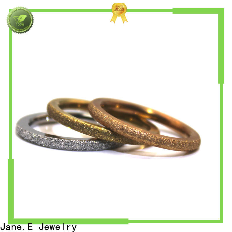 JaneE factory direct stainless steel wedding band top quality for weddings