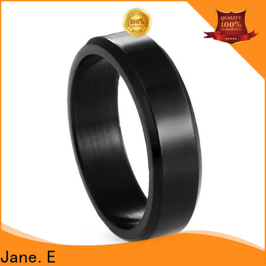 JaneE customized stainless steel wedding band comfortable for decoration