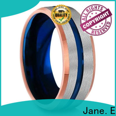 JaneE two tones tungsten band rings exquisite for wedding