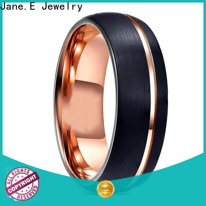 JaneE two tones mens tungsten wedding bands engraved for wedding