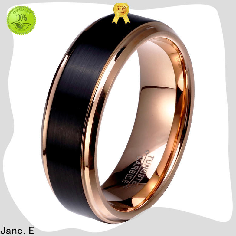 JaneE two tones custom tungsten ring exquisite for gift