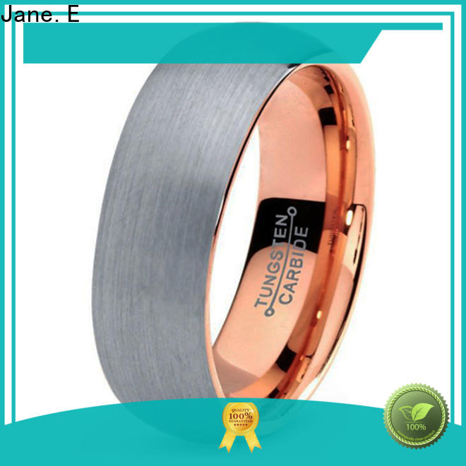 multi colors rose gold tungsten ring damascus texture matt for gift