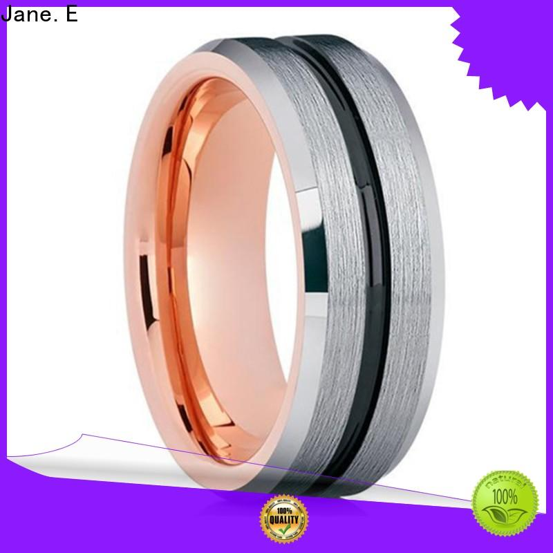 multi colors tungsten ring price two tones exquisite for wedding