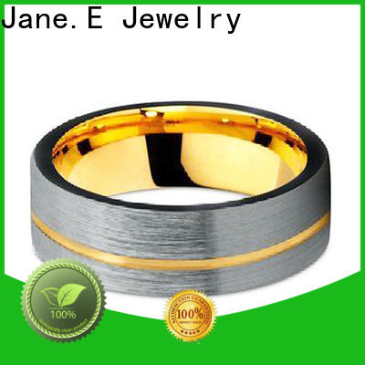 JaneE koa wood wood tungsten ring engraved for engagement