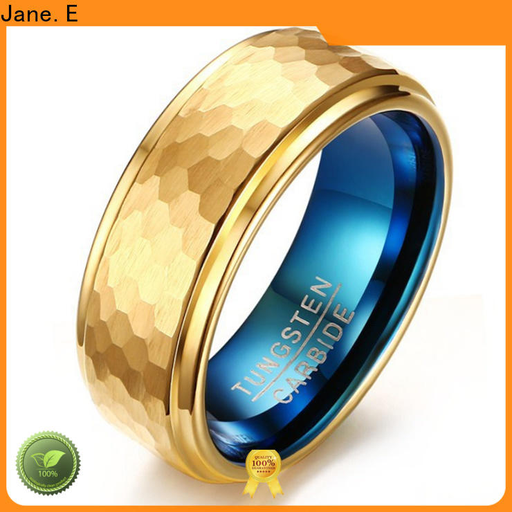JaneE two tones tungsten engagement rings for her matt for gift