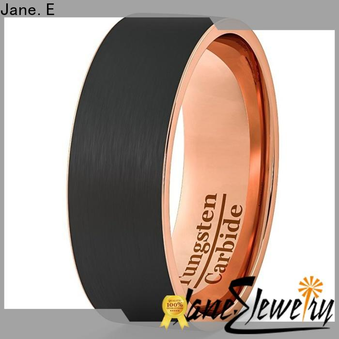 JaneE damascus texture 6mm tungsten ring exquisite for engagement