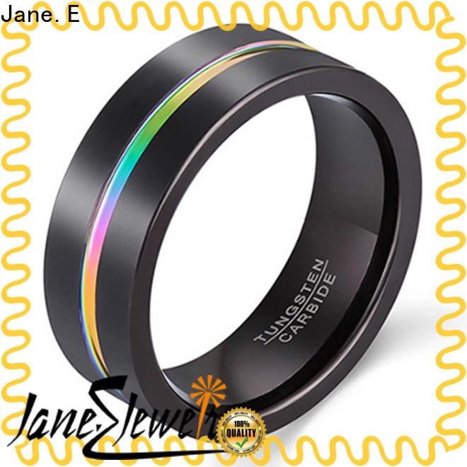 JaneE multi colors custom tungsten ring matt for engagement