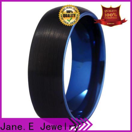 JaneE multi colors blue tungsten ring matt for gift