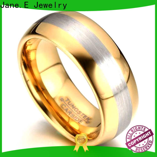 JaneE traditional tungsten carbide mens wedding ring exquisite for gift