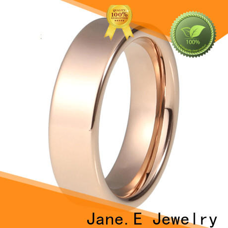 JaneE plated stainless steel rings for her multi colors for weddings