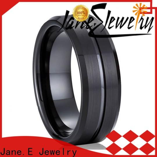 unique design mens blue tungsten wedding bands two tones engraved for gift