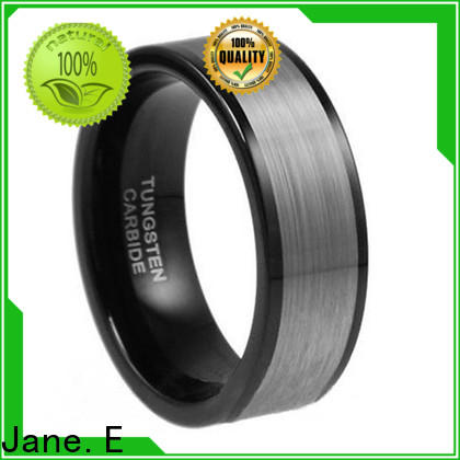 shiny polished mens blue tungsten wedding bands damascus texture exquisite for engagement